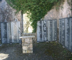 Memorial Plaques in old grave Aclare
